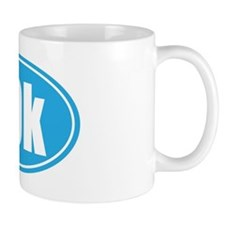 10k light blue oval Mug