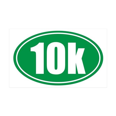 10k green oval 35x21 Wall Decal