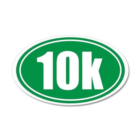 10k green oval 35x21 Oval Wall Decal
