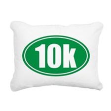10k green oval Rectangular Canvas Pillow