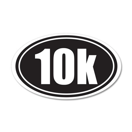 10k black oval 35x21 Oval Wall Decal