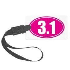 3.1 pink oval Luggage Tag