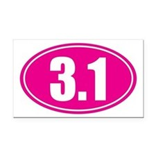 3.1 pink oval Rectangle Car Magnet