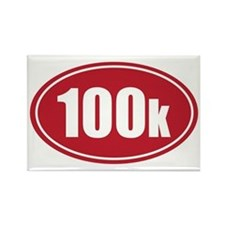 100k red oval Rectangle Magnet