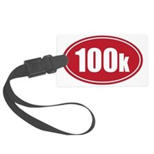 100k red oval Luggage Tag