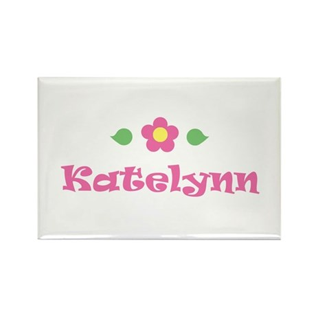 "Pink Daisy - ""Katelynn"" Rectangle Magnet"