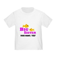 Custom Big Sister Gold Fish T-Shirt