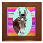 Horses and Mules Framed Tile