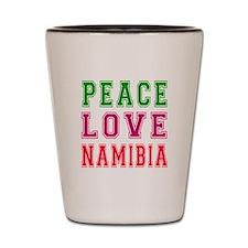 Peace Love Namibia Shot Glass