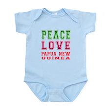 Peace Love Papua New Guinea Infant Bodysuit