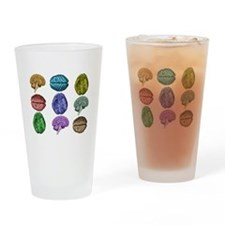 C Brain Drinking Glass