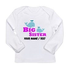 Custom Big Sister Whale Long Sleeve T-Shirt