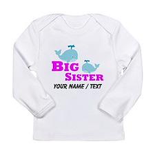 Custom Big Sister Whale Long Sleeve T-Shirt