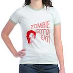 ZOMBIE GOTTA EAT Jr. Ringer T-Shirt