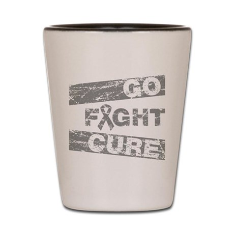 Brain Tumor Go Fight Cure Shot Glass