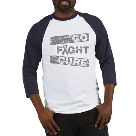 Brain Cancer Go Fight Cure Baseball Jersey