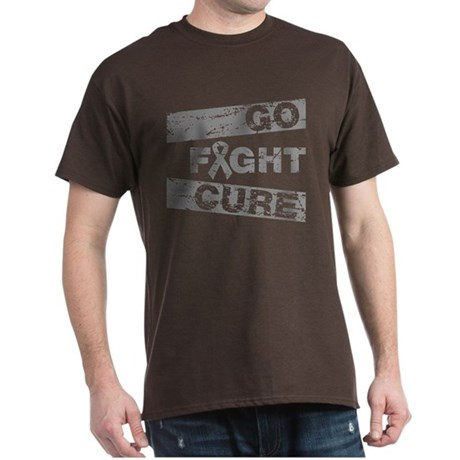 Brain Cancer Go Fight Cure Dark T-Shirt