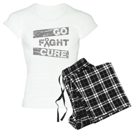 Brain Cancer Go Fight Cure Women's Light Pajamas
