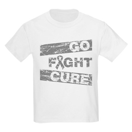 Brain Cancer Go Fight Cure Kids Light T-Shirt