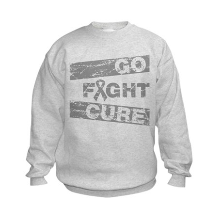 Brain Cancer Go Fight Cure Kids Sweatshirt