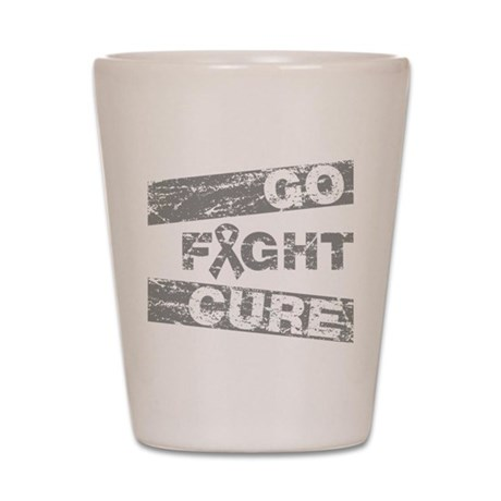 Brain Cancer Go Fight Cure Shot Glass