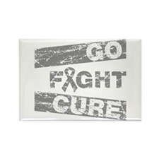 Brain Cancer Go Fight Cure Rectangle Magnet