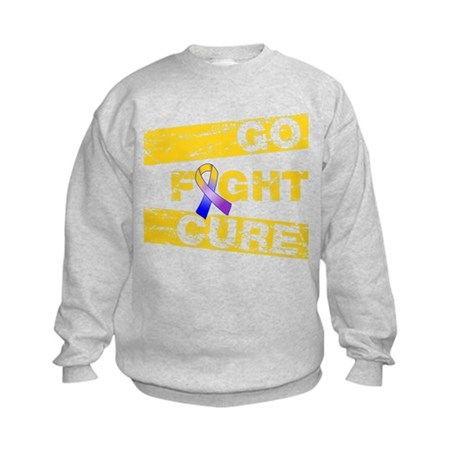 Bladder Cancer Go Fight Cure Kids Sweatshirt