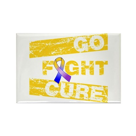 Bladder Cancer Go Fight Cure Rectangle Magnet