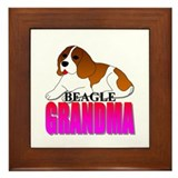 Beagle Grandma Framed Tile