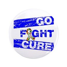 "Autism Go Fight Cure 3.5"" Button (100 pack)"