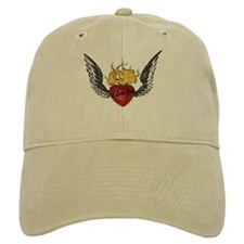 I Love You Winged Heart Baseball Cap