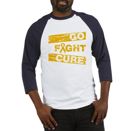Appendix Cancer Go Fight Cure Baseball Jersey