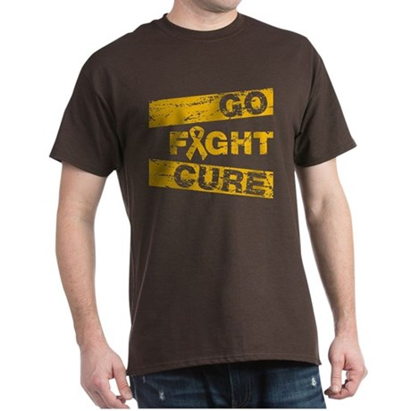 Appendix Cancer Go Fight Cure Dark T-Shirt