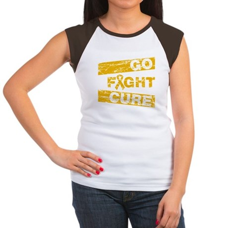 Appendix Cancer Go Fight Cure Women's Cap Sleeve T