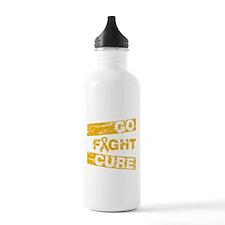 Appendix Cancer Go Fight Cure Water Bottle