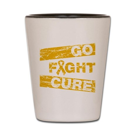 Appendix Cancer Go Fight Cure Shot Glass
