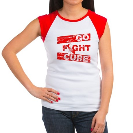 Aplastic Anemia Go Fight Cure Women's Cap Sleeve T