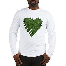 Green Leaves Heart Long Sleeve T-Shirt