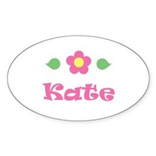 """Pink Daisy - """"Kate"""" Oval Decal"""