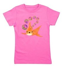 Goldfish and Peace Bubbles Girl's Tee