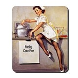 Vintage Pinup Nurse Mousepad