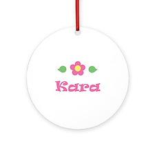 "Pink Daisy - ""Kara"" Ornament (Round)"