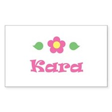 "Pink Daisy - ""Kara"" Rectangle Decal"