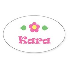 "Pink Daisy - ""Kara"" Oval Decal"