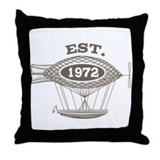 Vintage Birthday Est 1972 Throw Pillow