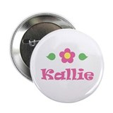 Pink Daisy - &quot;Kallie&quot; Button