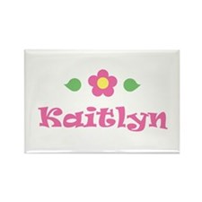 "Pink Daisy - ""Kaitlyn"" Rectangle Magnet"