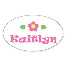 "Pink Daisy - ""Kaitlyn"" Oval Decal"