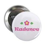 "Pink Daisy - ""Kadence"" Button"