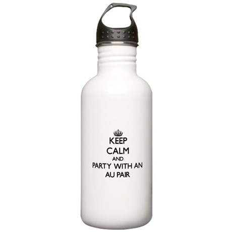 Keep Calm and Party With an Au Pair Water Bottle